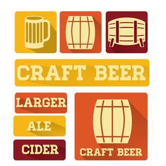 Retro Craft Beer Flat Logos