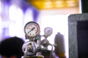Manometer of an air compressor