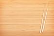 Sushi chopsticks on bamboo table