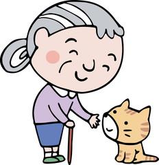 おばあさんと猫