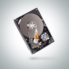Internal hard drive disk or computer storage.