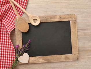Kochlöffel mit Kreidetafel