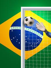 Fussballtor Brasilien