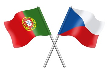 Flags : Portugal and Czech Republic