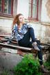 Beautiful stylish woman outdoors