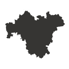 Franken Karte Umriss schwarz - Vektor