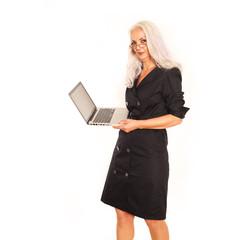 Geschäftsfrau mit Notebook