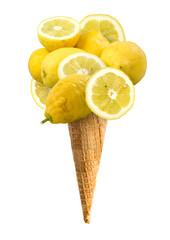 Cono gelato gusto limone