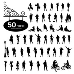 Silhouette people bodily movement background