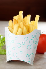 French Fries in Fast Food container