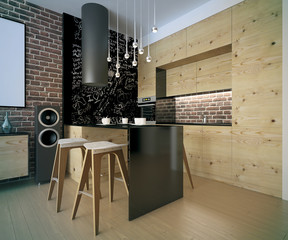 kitchen in a new modern home.