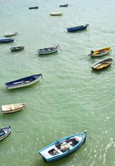 Barcas en la playa de la Caleta,Cádiz