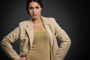 Young woman in blazer