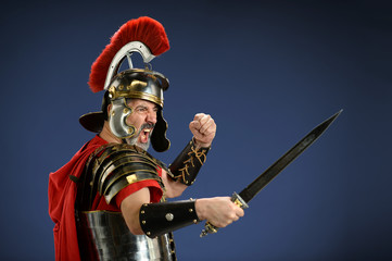 Roman Centurion Using Sword