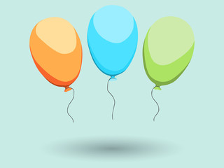 Three color ballons. EPS10 vector illustration