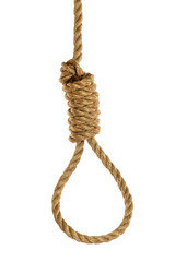 Noose Over White Background