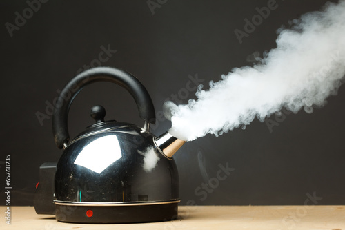 canvas print picture boiling kettle