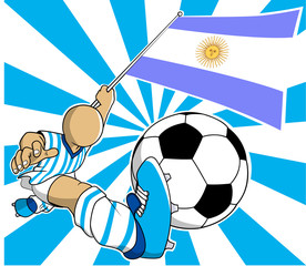 Argentina soccer player vector cartoon in eps10