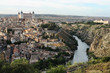 Landscape of medieval city of Toledo at sunset, Spain