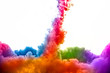 Raoinbow of Acrylic Ink in Water. Color Explosion - 65770836