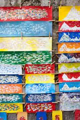 Souvenir di Positano, tele dipinte a mano