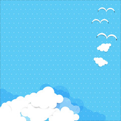 Dot background blue sky 004