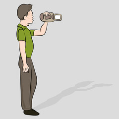 Man with Video Recorder