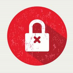 Lock symbol,vector