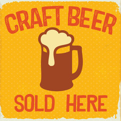 Retro Style Craft Beer Sign