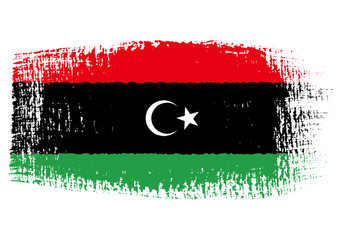 brushstroke flag Libya