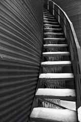 Ice on Metal Staircase
