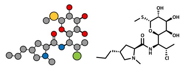 Clindamycin antibiotic drug (lincosamide class)