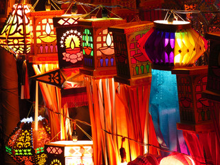 Traditional Indian lanterns for sale on the occassion of Diwali