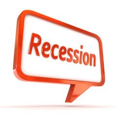 Speech Bubble Recession