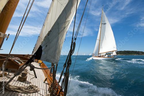 Deurstickers Zeilen Segelregatta klassischer Yachten