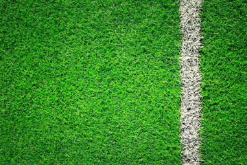 Artificial grass soccer background