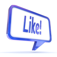 "Speech Bubble showing ""Like"" as used in social networks"