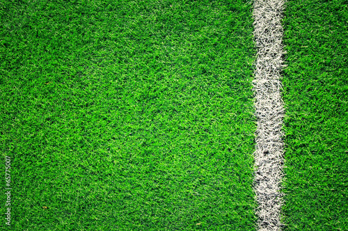 canvas print picture Artificial grass soccer background