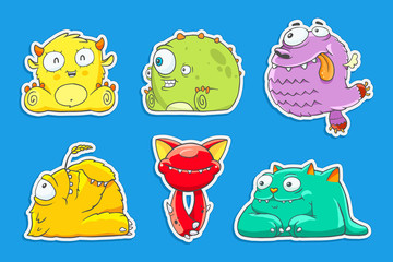 funny cartoon unusual monsters