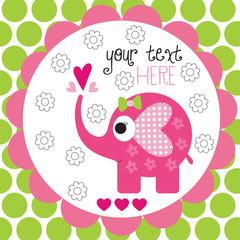 Elephant polka dots vector illustration