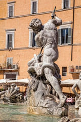 Fountain in Piazza Navona, Rome, Italy