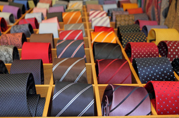 neckties display