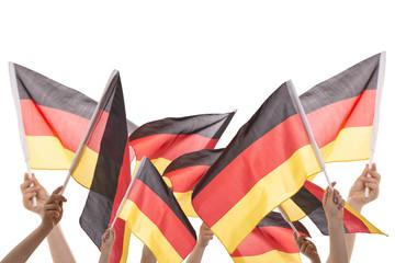 Viele Deutsche Flaggen isoliert