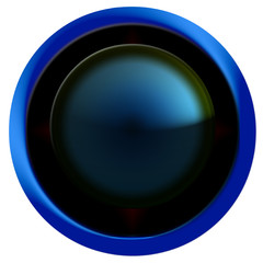 bouton web rond bleu/noiir