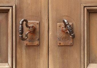 old double door knocker