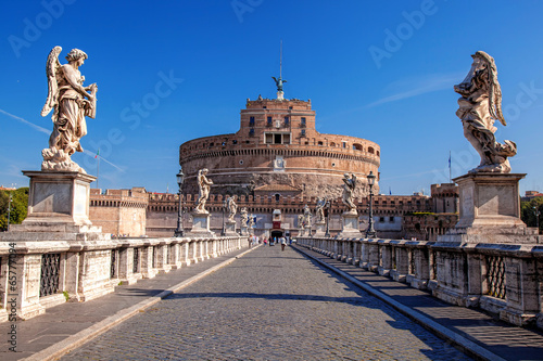 Angel Castle with bridge in Rome, Italy - 65777094