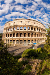 Colosseum during spring time in Rome, Italy