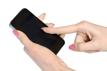 Isolated hand with phone