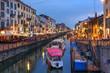 Leinwanddruck Bild - Navigli Grande, Milan, Italy