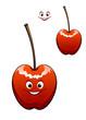 Happy ripe red cherry